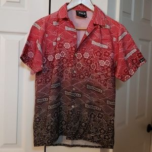 South Pole satin-feel button down shirt LIKE NEW!